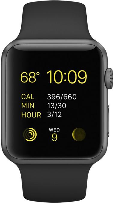 Apple Watch Sport 42mm Black (черный)