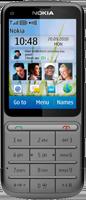 Nokia C3-01 c чехлом - серый