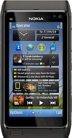 Nokia N8 GPS - черный