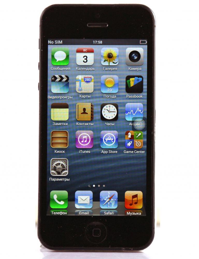 Apple IPhone 5 MTK 6589 Black 16 Гб
