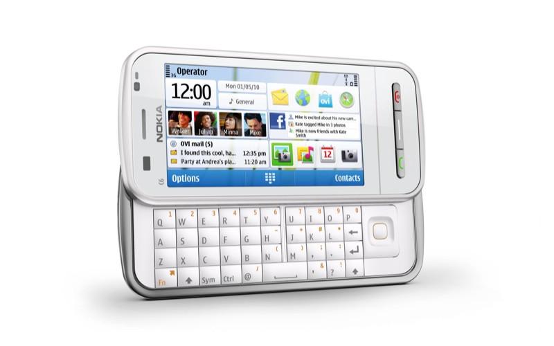 Nokia C6-00 серебристая