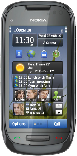Nokia C7-00 черная