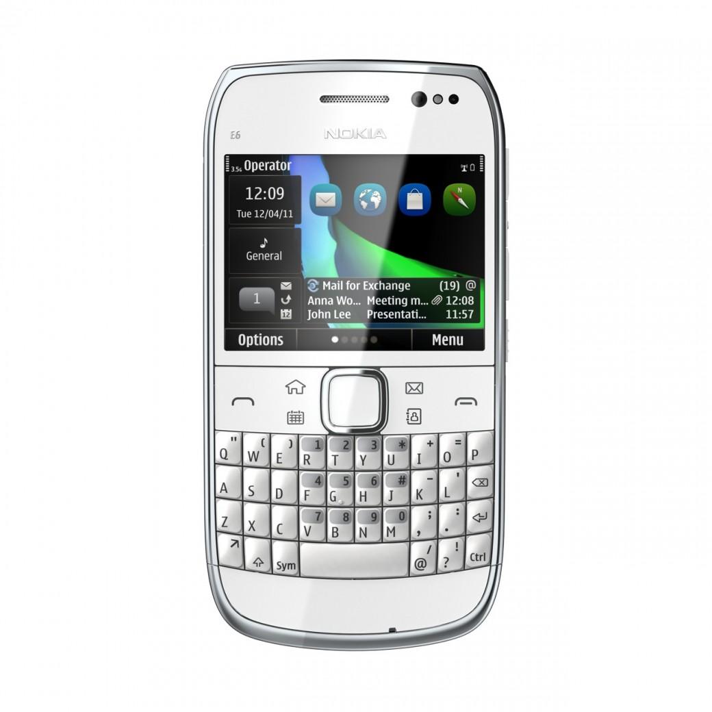 Nokia E6 белая
