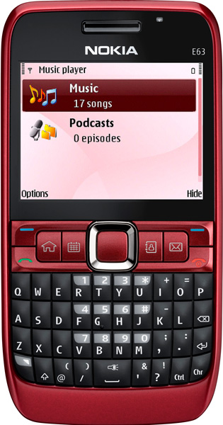 Nokia E63 красная