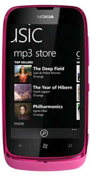 Nokia Lumia 610 розовая