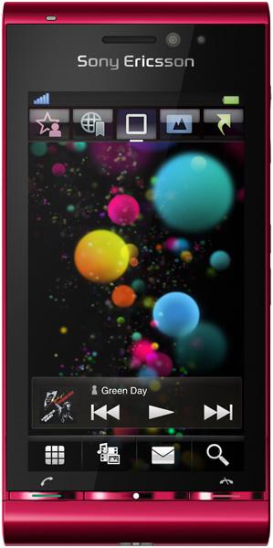 Sony Ericsson Satio (U1i) красный