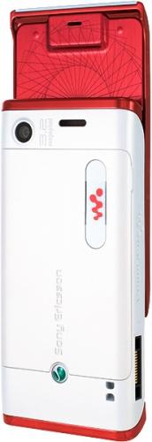 Sony Ericsson W595 красно-белый