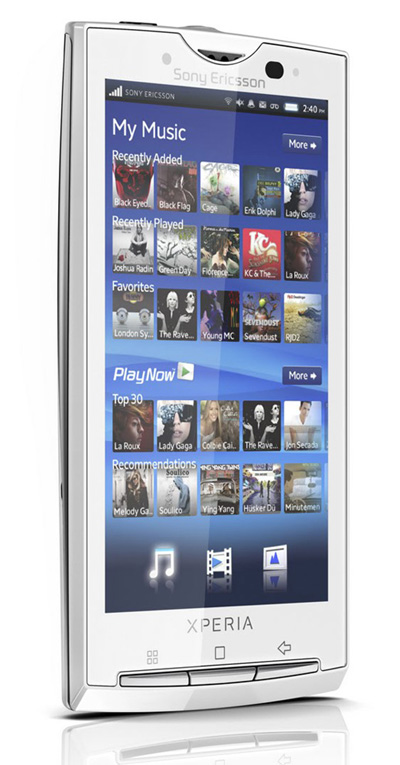 Sony Ericsson Xperia X10 (X10i) белый