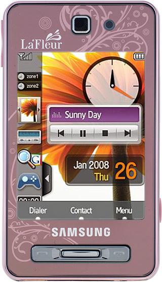 Samsung SGH-F480 розовый