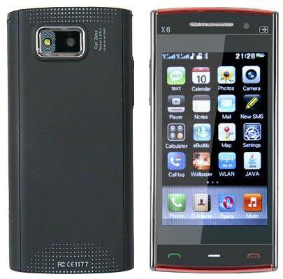Nokia X-6 (1 sim) - черный