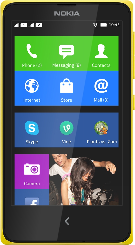 Nokia X Dual SIM Желтый
