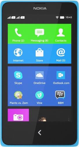 Nokia X Dual SIM Голубой