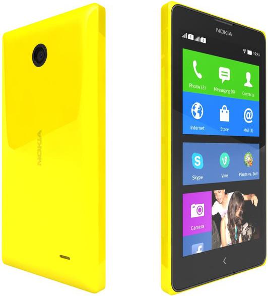 Nokia X 2 sim (желтый)