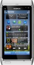 Nokia N8 - серебристо белый